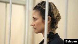 Вольга Сьцяпанава падчас суду. Віцебск, 30 жніўня 2017 году