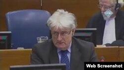 Radovan Karadžić u sudnici, 7. veljače 2012.