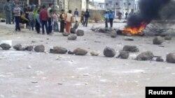 Акции протеста вблизи города Эль-Камышлы