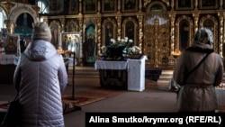 Праздничное богослужение в Кафедральном соборе святых равноапостольных князя Владимира и Ольги, Симферополь