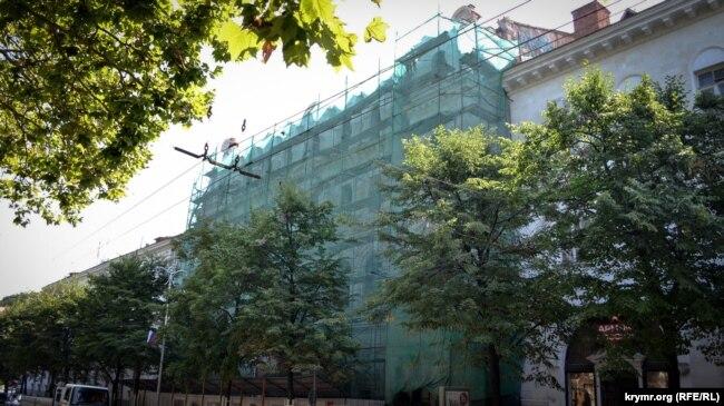 Ремонт здания Севастопольского художественного музея им. М.П. Крошицкого, июль 2019 года