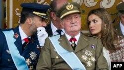 Наследный принц Фелипе, испанский король Хуан Карлос и принцесса Испании Летиция