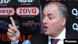 Armenia - Armen Alaverdian, deputy head of the State Revenue Committee, at a news conference in Yerevan, 18Jan2012.