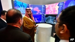 Mohammed bin Salman innovasiya qalereyasında, 5 noyabr, 2018-ci il