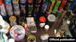 According to a statement, during the operation investigators confiscated items that could be used to make explosive substances.