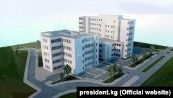 Макет будущего здания факультета медицины университета «Манас».