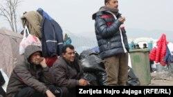 Makedoniyada qaçqınlar.