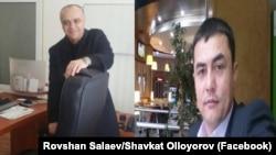Равшанбек Салаев (слева) и Шавкатжон Оллоёров обвиняются в передаче секретной информации о руководстве Узбекистана журналисту Бобомуроду Абдуллаеву.