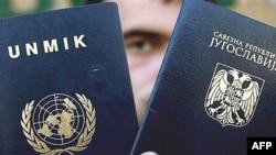 Dokumenti i udhëtimit i UNMIK-ut dhe pasaporta e ish-Jugosllavisë