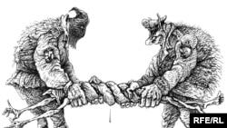 کاریکاتوری از کارتونیست روس، میخائیل زلاتکوفسکی