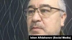 Омурбек Текебаевтың түрмеде түскен суреті. Желтоқсан 2017 жыл.