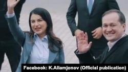 Саида Мирзиёева менен Комил Алламжонов.