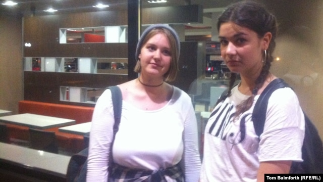 Yulia and Polina say they've been coming to McDonald's for 11 years.