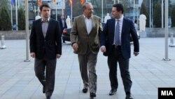 Средба на премиерот Никола Груевски со мексиканскиот телекомуникациски магнат Карлос Слим.