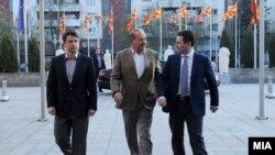 Takimi i kryeministrit Nikolla Gruevski dhe manjatit meksikan të telekomit, Karlos Slim.