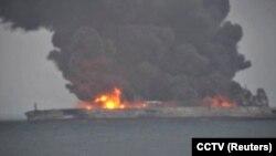 تصویری از نفتکش حادثهدیده