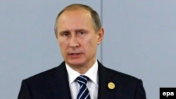 Vladimir Putin's tough but tightly scripted talk was meant to warn militants worldwide and reassure Russians that they are being protected, but his statement also contained several messages to the West.