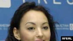 Куралай Нуркадилова, дизайнер, на пресс-конференции в Алматы.