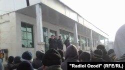 Tajikistan,Kulob region,protest of bisinesman in Kulob city,26February2012