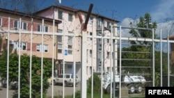 Zgrada Okružnog i Opštinskog suda u severnom delu Kosovske Mitrovice