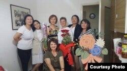 Алтын Белекова и другие кыргызстанки, проживающие в Италии.