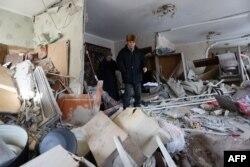 """Авдеевка, 3 февраля. Квартира после попадания ракеты """"Града"""""""