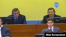 Ante Gotovina i Mladen Markač pred sudom u Hagu, 14. svibanj 2012.