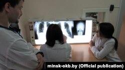 Аддзяленьне рэнтгену ў Менскай абласной клінічнай лякарні, ілюстрацыйнае фота