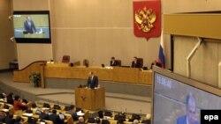Pamje nga punimet e Parlamentit të Rusisë