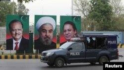 Полицейская машина в городе Исламабаде. Иллюстративное фото.