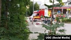 На месте стрельбы в Мюнхене (22 июля 2016 года)