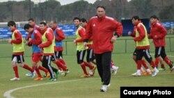 Tajikistan/Turkey -- training camp of Tajik national football team in Turkey,15Feb2012