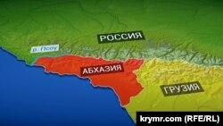 Линия разграничения между Абхазией и Россией