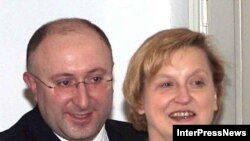 Анна Фатыга зь Міністрам замежных справаў Грузіі Г.Бежуашвілі ў 2007 годзе