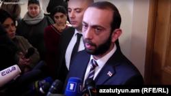Спикер парламента Армении Арарат Мирзоян, Ереван, 18 января 2019 г.