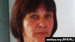 Зинаида Мухортованың сіңлісі Наталья Абент. Балқаш, 20 тамыз 2013 жыл.