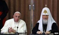 Встреча патриарха Кирилла и папы Франциска в Гаване, 12 февраля 2016 года