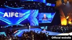 Президент Казахстана Нурсултан Назарбаев на открытии Международного финансового центра «Астана». 5 июля 2018 года.