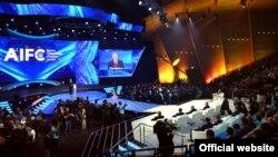 """""""Астана"""" халықаралық қаржы орталығының ашылу салтанаты. Астана, 5 шілде 2018 жыл."""