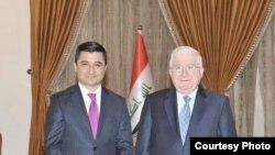رئيس الجمهورية فؤاد معصوم والمتحدث باسمه خالد شواني