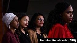 Члени Конгресу, які стали об'єктом критики президента США, виступають на прес-конференції, Вашингтон, 15 липня 2019 року
