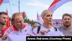 Беларускія спартоўцы на акцыі супраць фальсыфікацыі выбараў і міліцэйскага гвалту