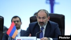 Armenia -- PM Nikol Pashinian Addresses the Session of the Eurasian Intergovernmental Council in Yerevan. 30April, 2019