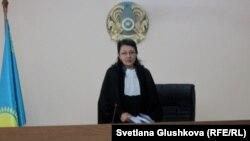 Судья Гүлжаһан Ұбашева. Астана, 22 қаңтар 2014 жыл.
