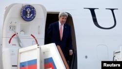 Державний секретар США Джон Керрі після прибуття до Москви. 14 липня 2016 року