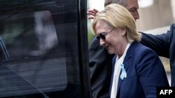 Демократиялық партия атынан АҚШ президенттігіне кандидат Хиллари Клинтон.