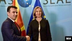 Zoran Zaev dhe Federica Mogherini
