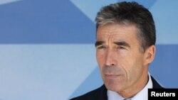 НАТО бас хатшысы Андерс Фог Расмуссен. Брюссель, 26 маусым 2012 жыл.