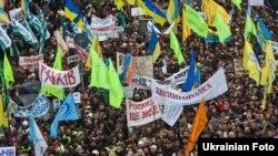 Під час акції протесту підприємців на майдані Незалежності в Києві, 22 листопада 2010 року
