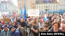 Prosvjed radnika DIOKI-ja u Zagrebu, 20. ožujak 2012.